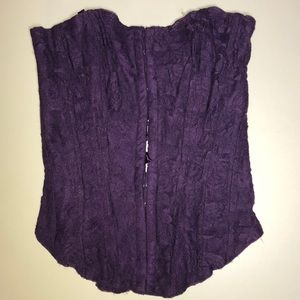 Seduction purple lace corset